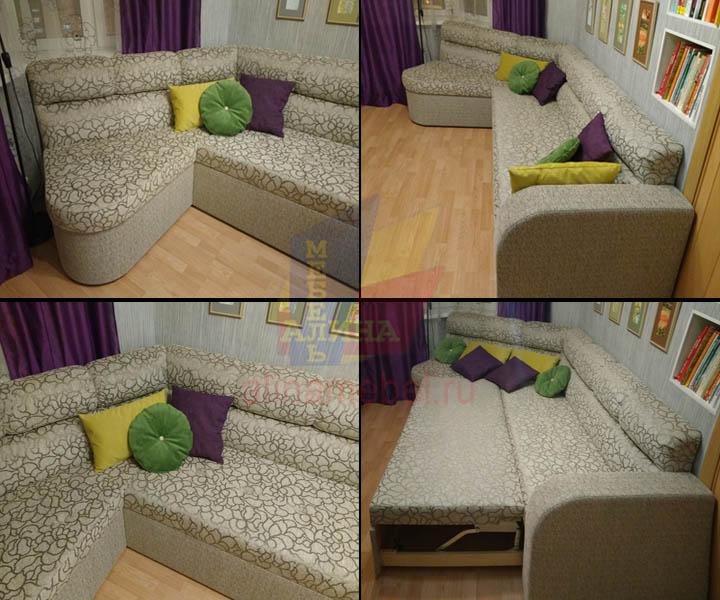 Изготовление диванов в гостиную с эркером