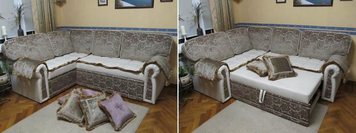 Диваны для гостиной со спальным местом под заказ