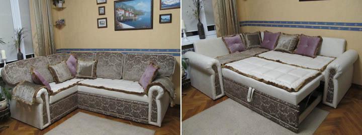 Угловые диваны для гостиной в классическом стиле