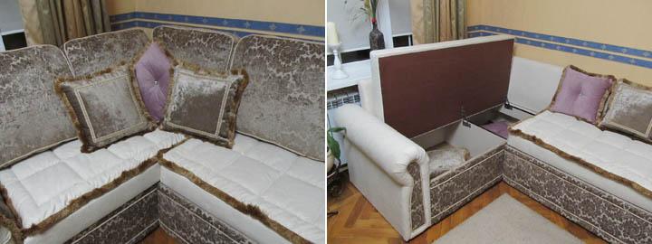 Классические диваны для гостиной на заказ