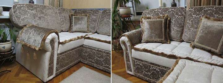 Изготовление классических диванов для гостиной