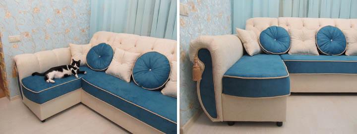 Изготовление П-образных диванов для гостиной