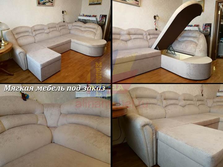 Изготовление дивана для гостиной на заказ