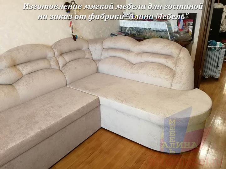 Нестандартная мягкая мебель для гостиной