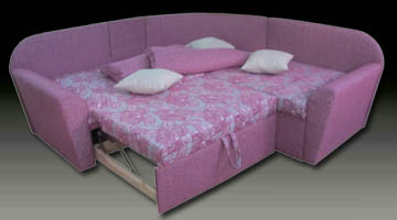 Радиусный диван со спальным местом