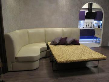 Эркерный диван со спальным местом на заказ
