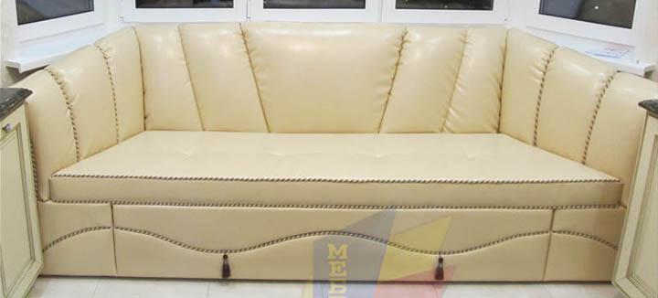 Эркерный диван на заказ от фабрики Алина Мебель