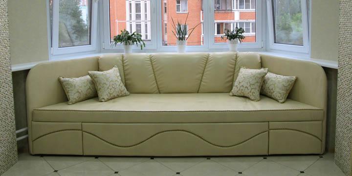 Эркерные диваны на заказ нужного размера