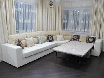 Эркерный диван для гостиной со спальным местом
