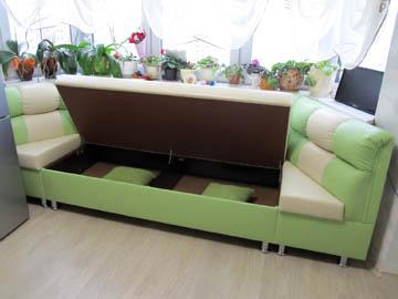 Эркерные диваны с ящиком под заказчика