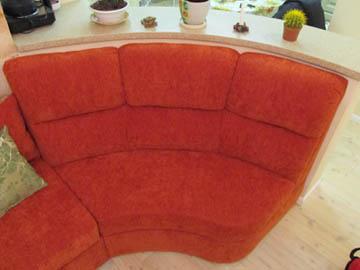Эркерный полукруглый диван на заказ
