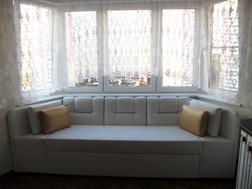 Эркерные диваны на заказ