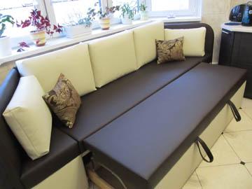 Эркерные диваны со спальным местом для кухни п44т