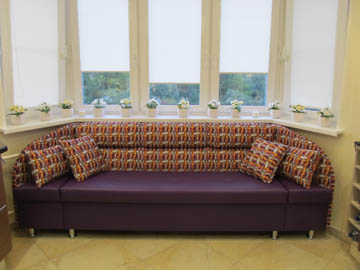 Эркерные диваны на заказ для кухни п44т