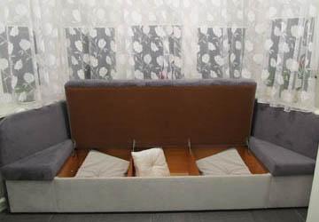Эркерные диваны с ящиками на заказ