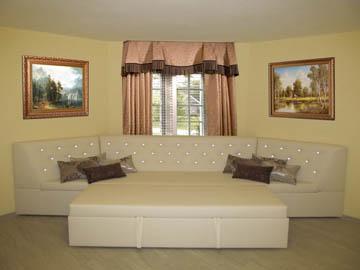 Эркерные диваны со спальным местом для гостиной на заказ