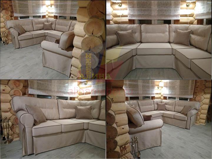 Эркерные диваны в гостиную от фабрики Алина Мебель