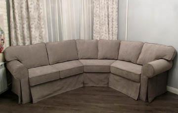 Эркерные угловые диваны для гостиной