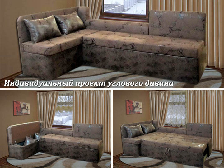 Угловой диван под окно на заказ
