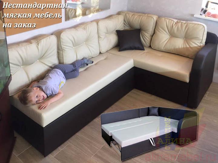 Угловые диваны по индивидуальным размерам на заказ