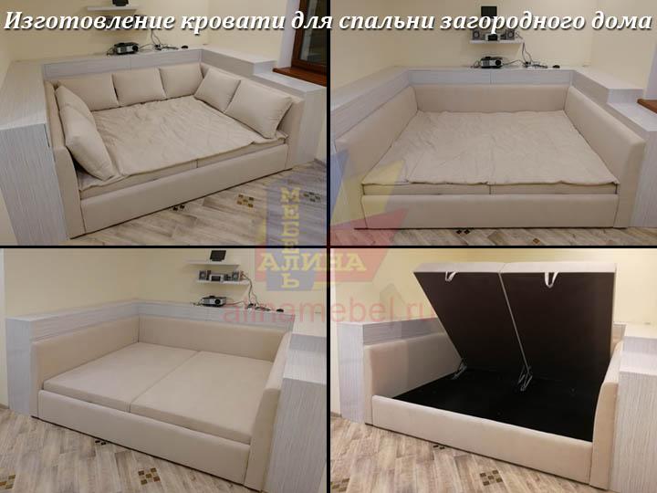 Изготовление кровати для спальни загородного дома