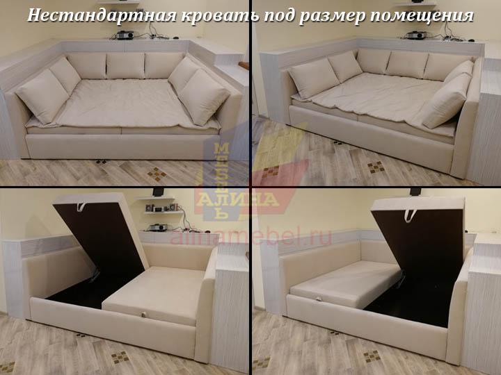 Нестандартная кровать под размер спальни