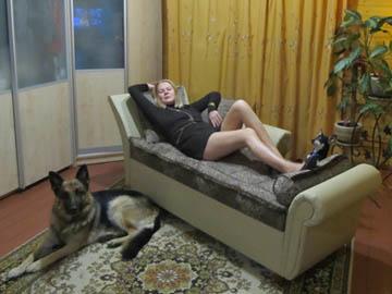 Стильный диван оттоманка