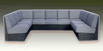 П-образные модульные диваны
