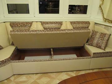 Эркерные диваны с ящиком