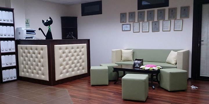 Мебель для холла Языковой студии Welcome