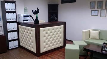 Мебель в зоне ресепшн