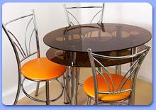 Обеденные стеклянные столы на заказ