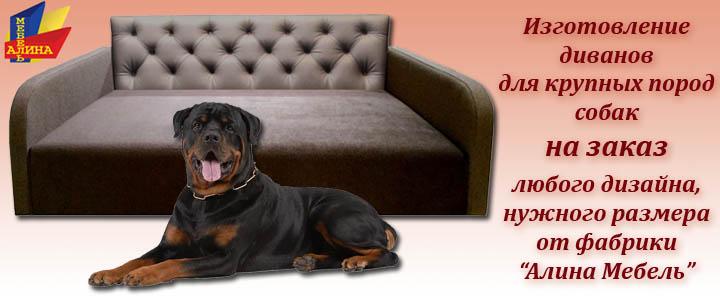 Изготовление диванов для крупных пород собак
