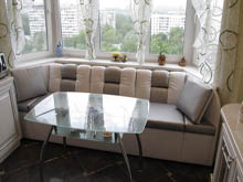 Эркерные диваны для кухни на заказ