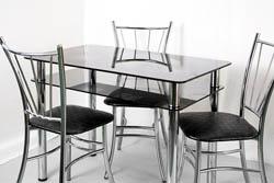 Мебель из стекла - столы обеденные